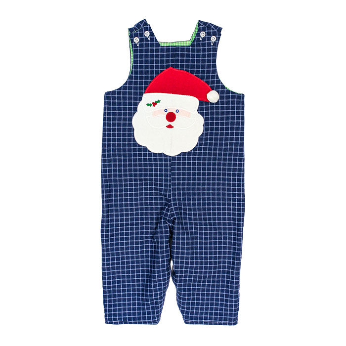 Navy Blue Reversible Gingham Longall By Rosalina  Navy Blue Gingham Overall  Children/'s Clothes  Boy/'s Clothes