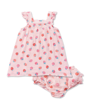 Angel Dear Strawberries Dress and Bloomers