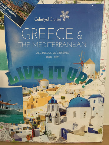 image of flyer about tourist cruises in Greece