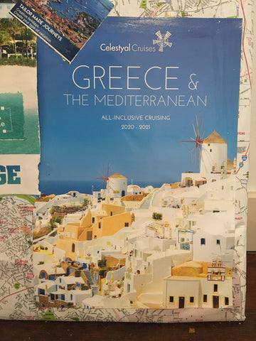image of crystal cruises brochure about cruises in Greece 2021