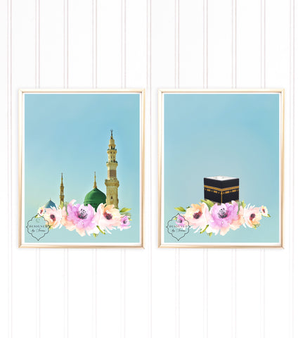 Mecca & Madinah Set of 2 | Physical Art Print