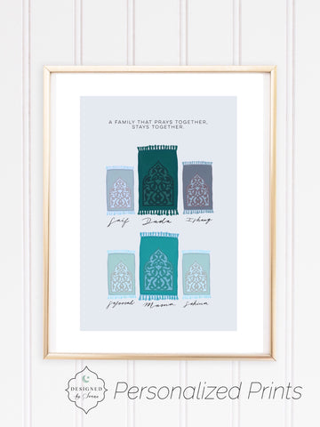 Personalized Family Musallah | Digital Art Download