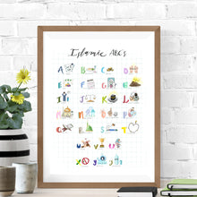 Load image into Gallery viewer, KAHANI | Islamic Alphabet | Physical Art Print