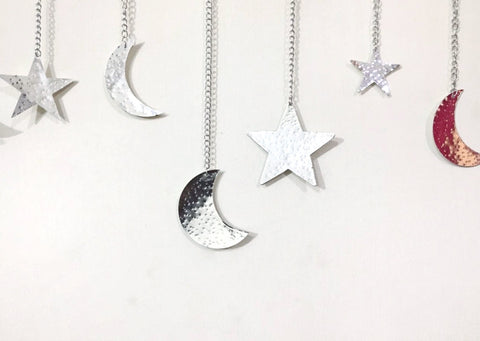 Preorder Gold Metal Moon & Star Garland