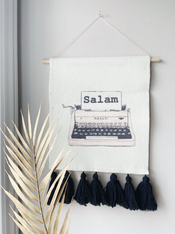 Preorder | Salam Typewriter | Wall Art Tapestry