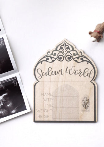 Birth Announcement Wooden Plaque