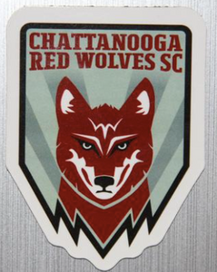 "Red Wolves SC Crest 6"" Outdoor/Indoor Magnet"