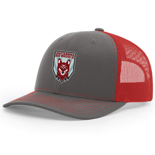 Red Wolves SC Crest Charcoal/Red Trucker Hat