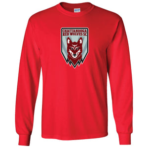 Red Wolves SC Crest Red Long Sleeve T-Shirt