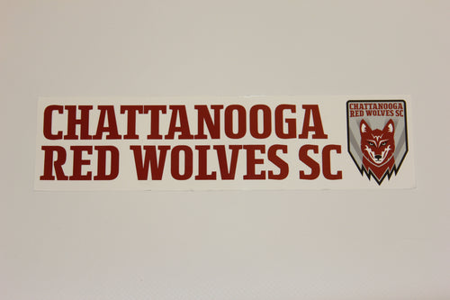 Red Wolves SC Bumper Sticker