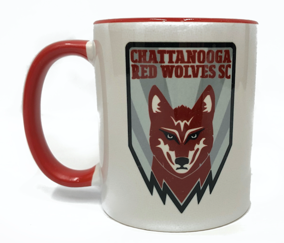 Red Wolves SC Crest Coffee Mug