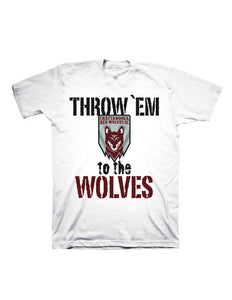 "Red Wolves SC Youth White ""Throw 'Em"" T-shirt"