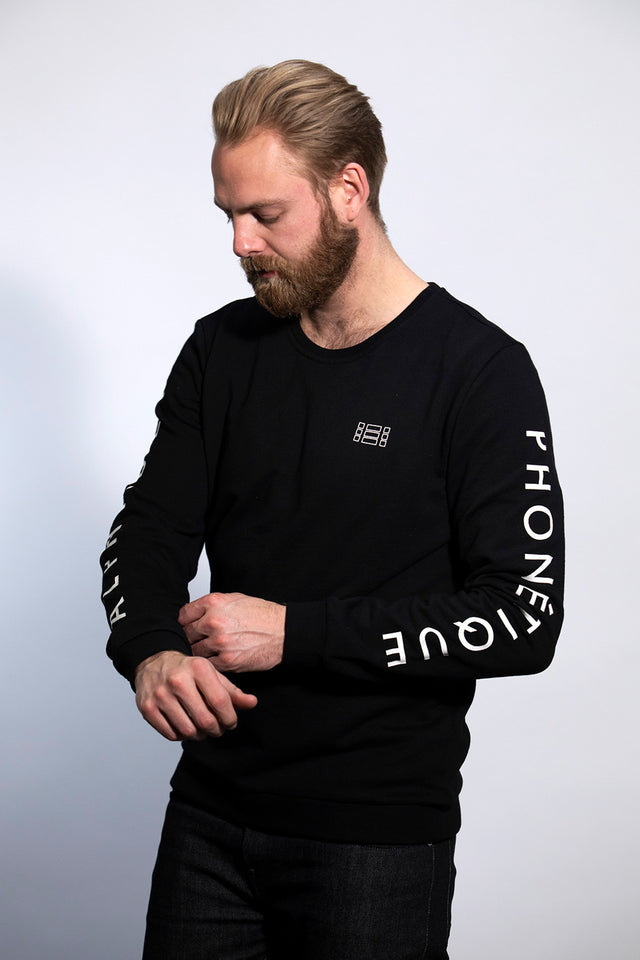LOGO SWEATER BLACK