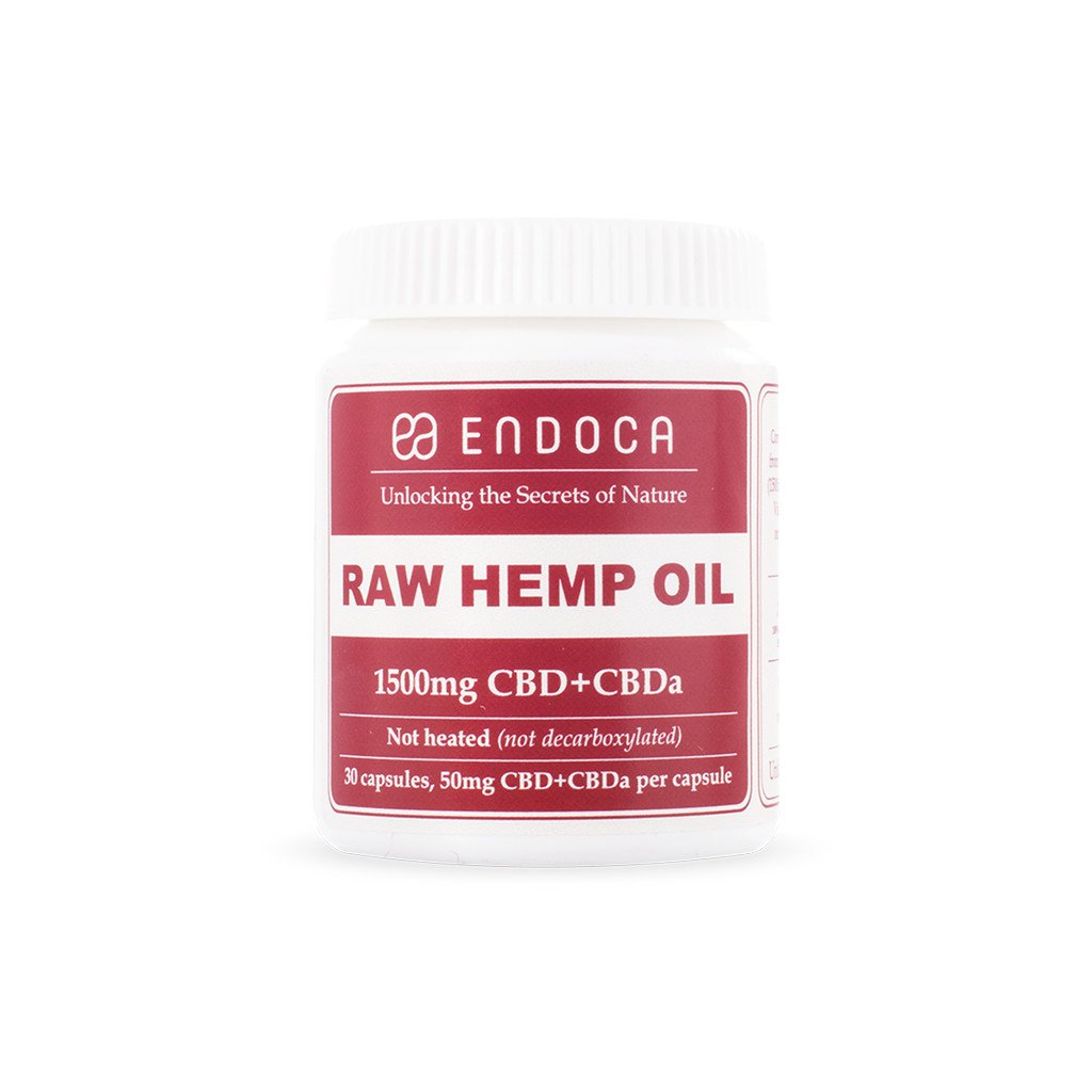 Endoca Raw Hemp Oil Capsules 1500mg