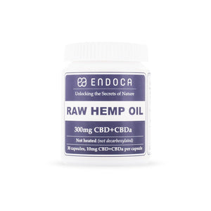 Endoca RAW Hemp Oil Capsules 300mg