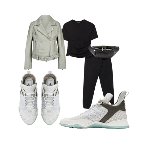 white leather sneakers outfit idea