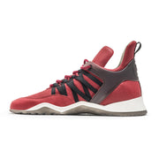 Vobyo Boxing TR - Red leather sneakers for women, inside shot. Vobyo's are handmade in Portugal with Italian leather.
