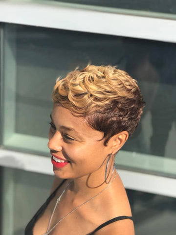 Blonde Cut and  Color Short Hair Specialist Greg Gilmore Hair Los Angeles