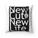 Spun Polyester New Cut New Life Square Pillow at Greg Gilmore Hair