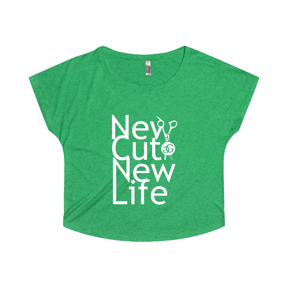 New Cut New Life Women's Tri-Blend Dolman Tee all Colors Greg Gilmore Hair