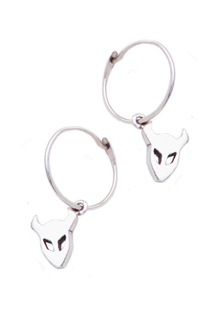 Demon Earrings In Silver