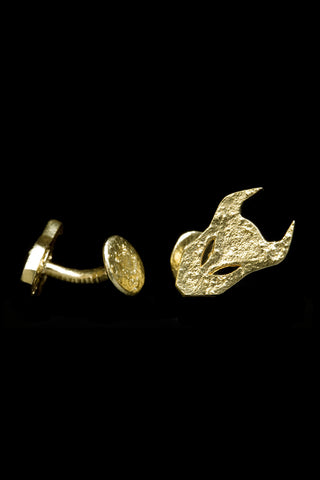 Demon Cufflinks In Gold Vermeil