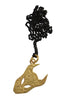 Large Demon Pendant In Gold Vermeil - Annika Burman Jewellery  - 2