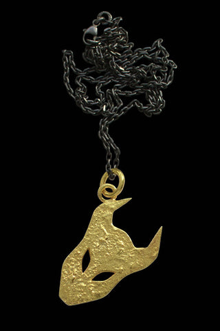 Large Demon Pendant In Gold Vermeil