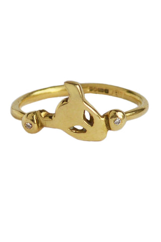 Demon Ring In 18ct Gold With Diamonds