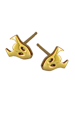 Demon Stud Earrings In 18ct Gold