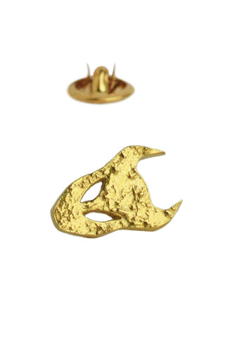 Demon Pin In Gold Vermeil