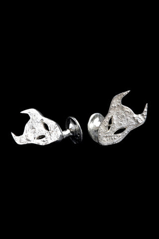 Demon Cufflinks In Silver