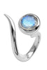 Dixie Cobra Ring With Moonstone - Annika Burman Jewellery  - 5