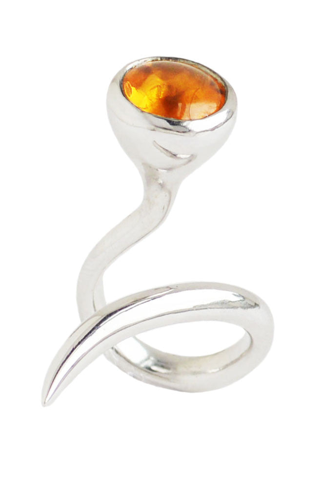 dixie cobra ring with citrine - annika burman jewellery - 2