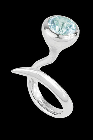 Dixie Cobra Ring With Topaz