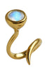 Dixie Cobra Ring With Rainbow Moonstone - Annika Burman Jewellery  - 2