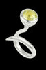 Dixie Cobra Ring With Lemon Quartz - Annika Burman Jewellery  - 1