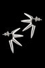 Four-Spike Silver Earrings - Annika Burman Jewellery  - 1