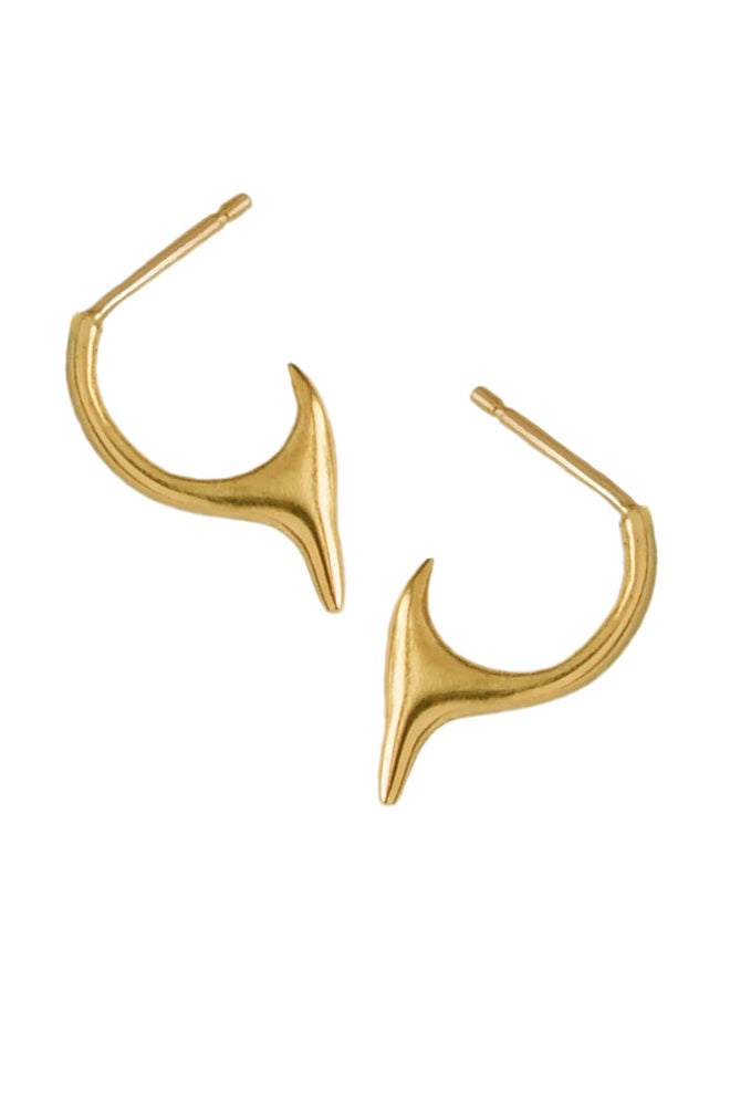 Blade Hoop Earrings In 18ct Gold