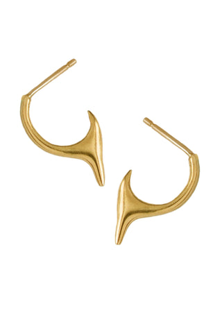 Blade Gold Hoop Earrings