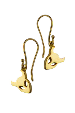 Demon Earrings In 18ct Gold