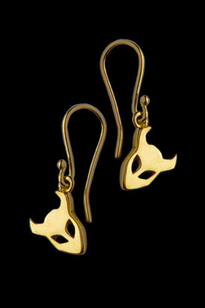 demon earrings in 18ct gold - annika burman jewellery - 1