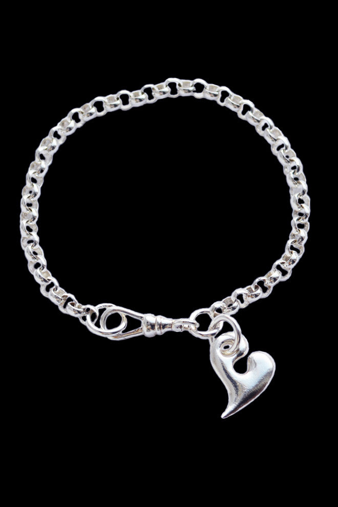 Silver Heart Bracelet - Small - Annika Burman Jewellery  - 1