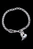 Silver Heart Bracelet - Medium - Annika Burman Jewellery  - 1