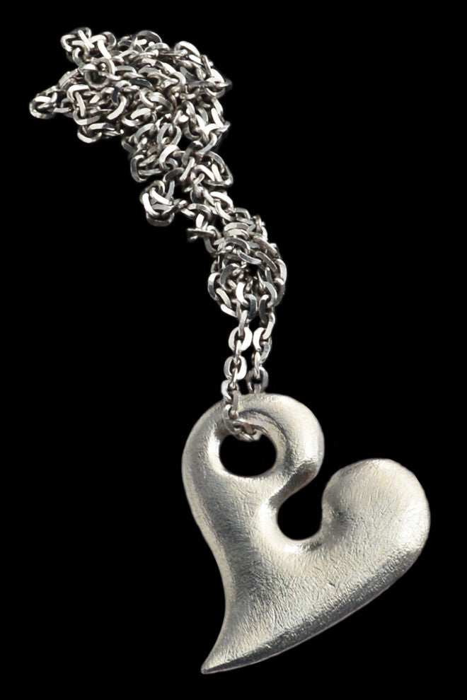 Large Silver Heart Pendant - Annika Burman Jewellery  - 1