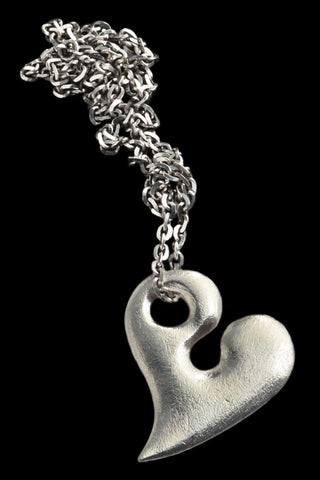 Large Silver Heart Pendant