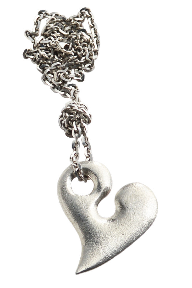 Large Silver Heart Pendant - Annika Burman Jewellery  - 4