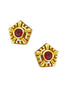 Helia Ear Studs With Garnets - Annika Burman Jewellery  - 2