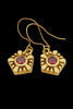 Helia Earrings With Garnets - Annika Burman Jewellery  - 1