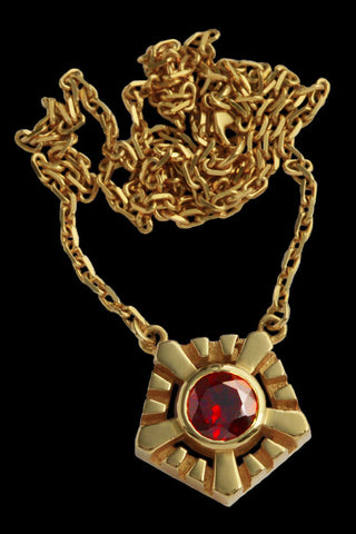 Large Helia Necklace With Garnet